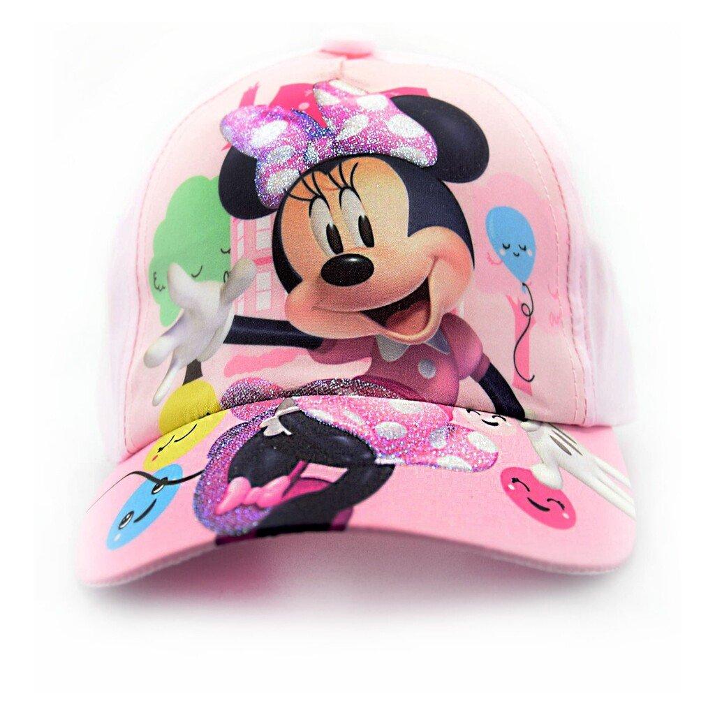 Dívčí kšiltovka Minnie Mouse  - světle růžová