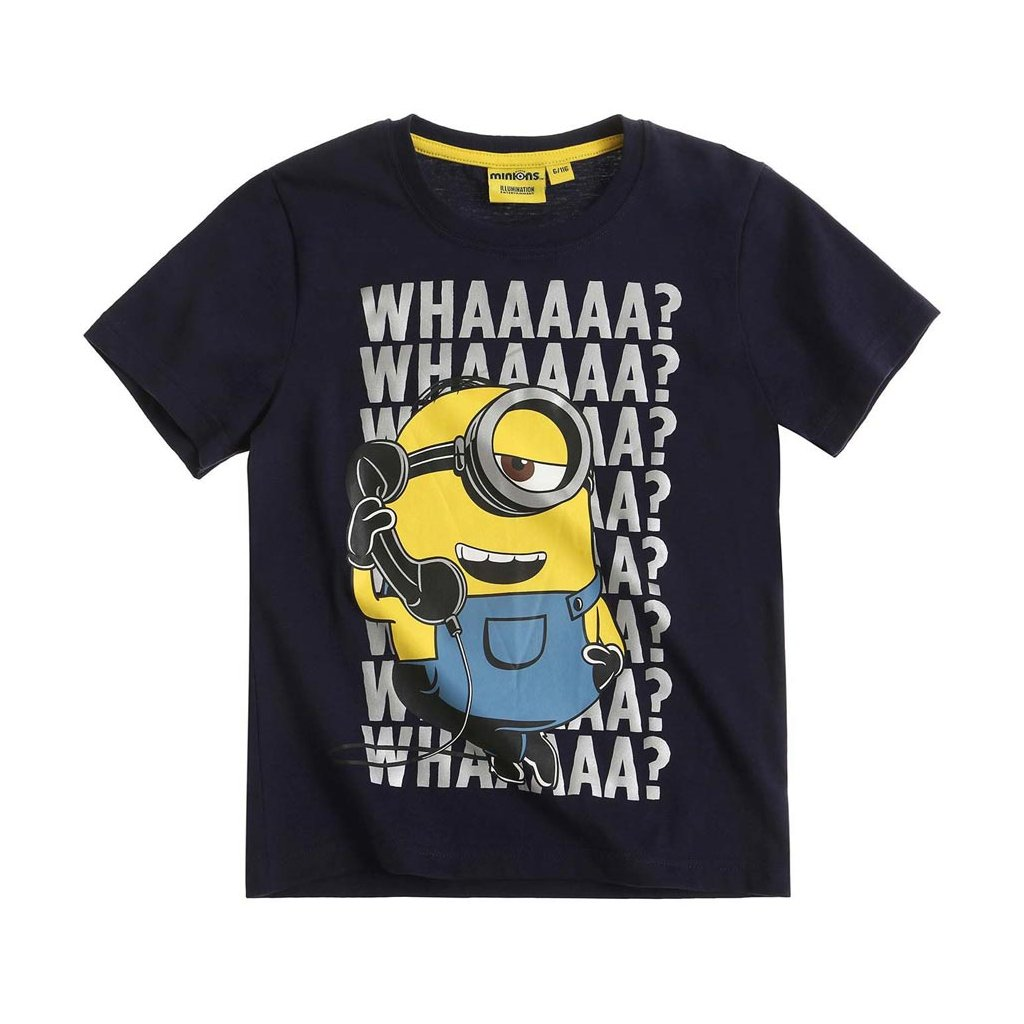 vyr 5320boys minions short sleeve t shirt navy blue full 17348