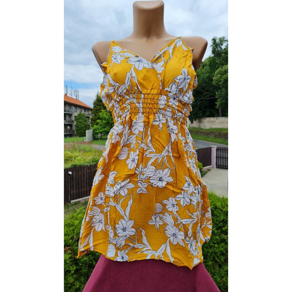 Dámské krátké šaty NK2166 - žluté