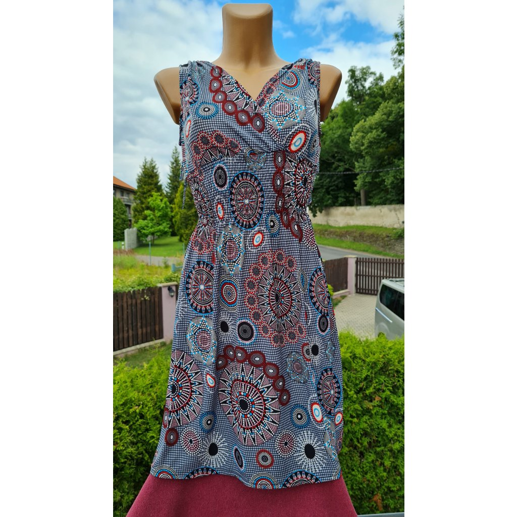 Dámské krátké šaty 9908 - šedé