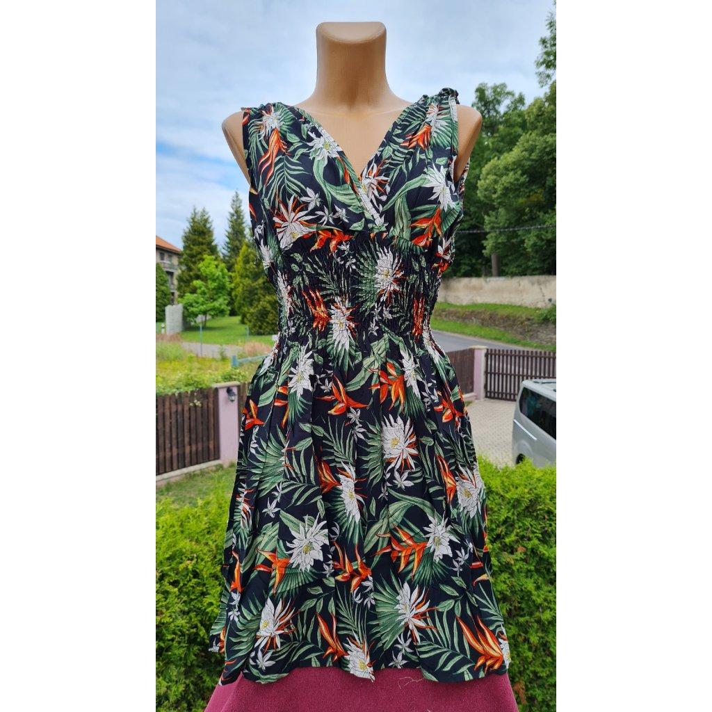 Dámské krátké šaty Y281 - černo zelené