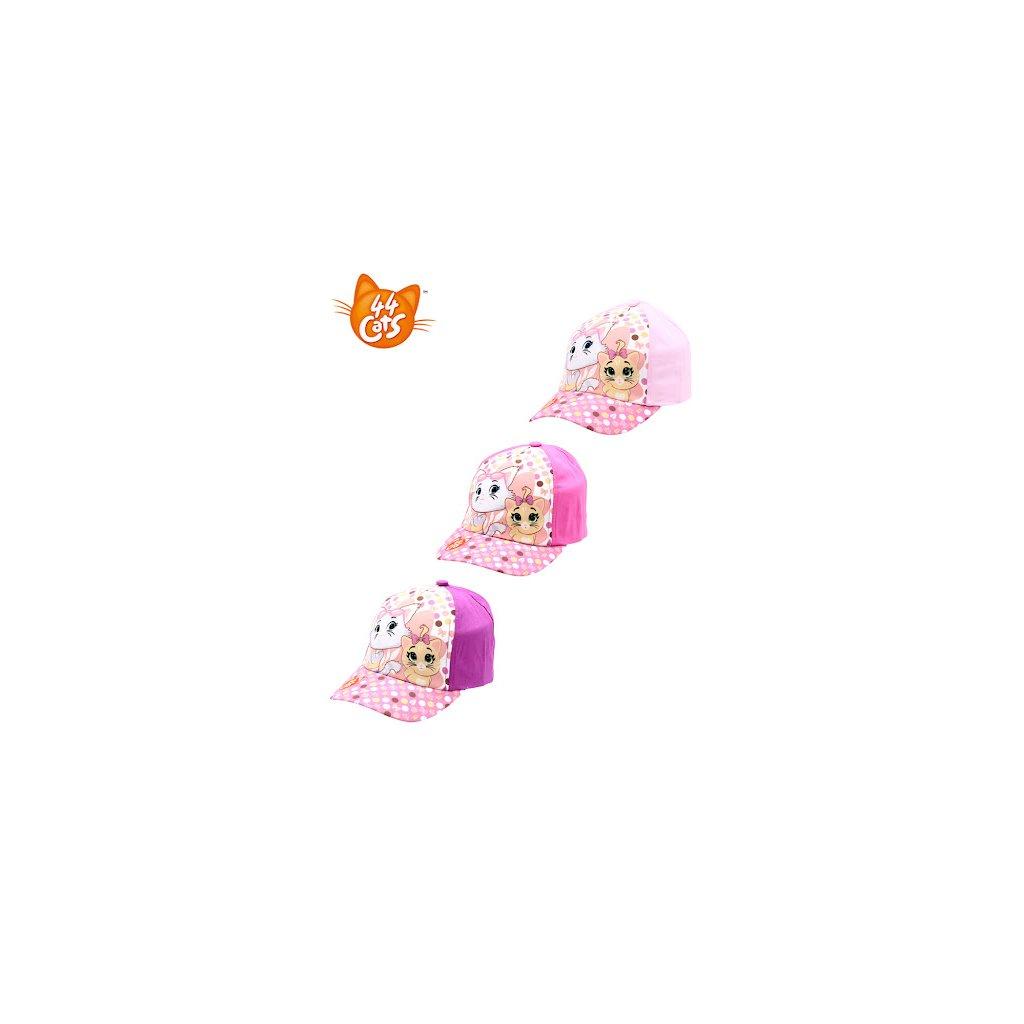 Dívčí kšiltovka 44cats-cap-033 - tmavě růžová