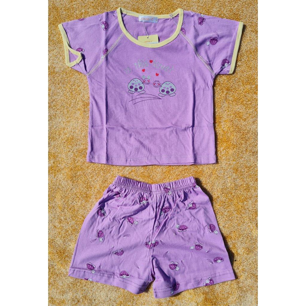 Dětské pyžamo s krátkým rukávem GK2165 - fialové