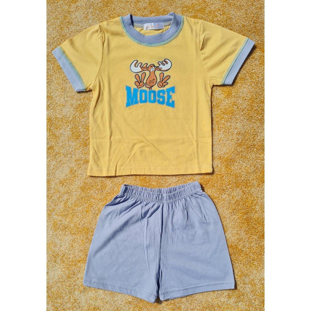 Dětské pyžamo s krátkým rukávem GN2511 - žluté