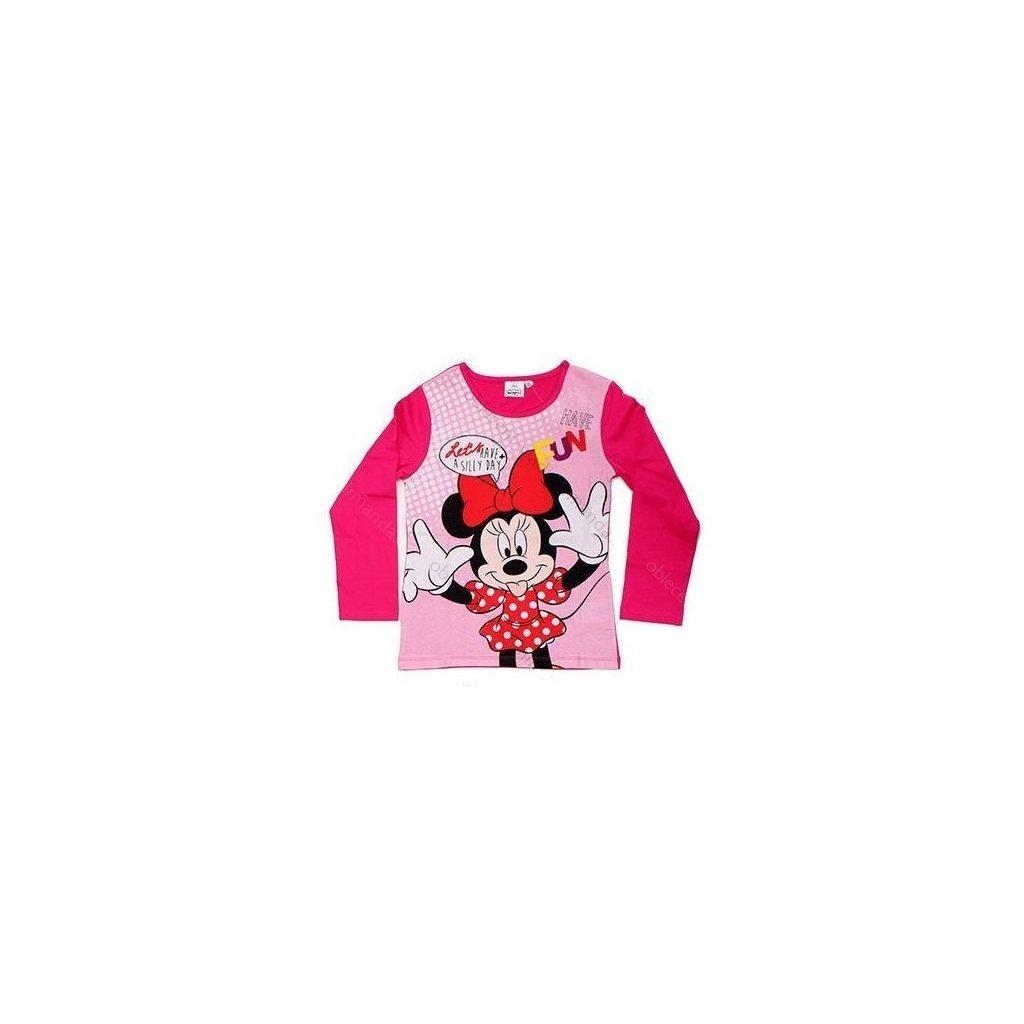Tričko s dlouhým rukávem Minnie Mouse 961-177 tmavě růžové
