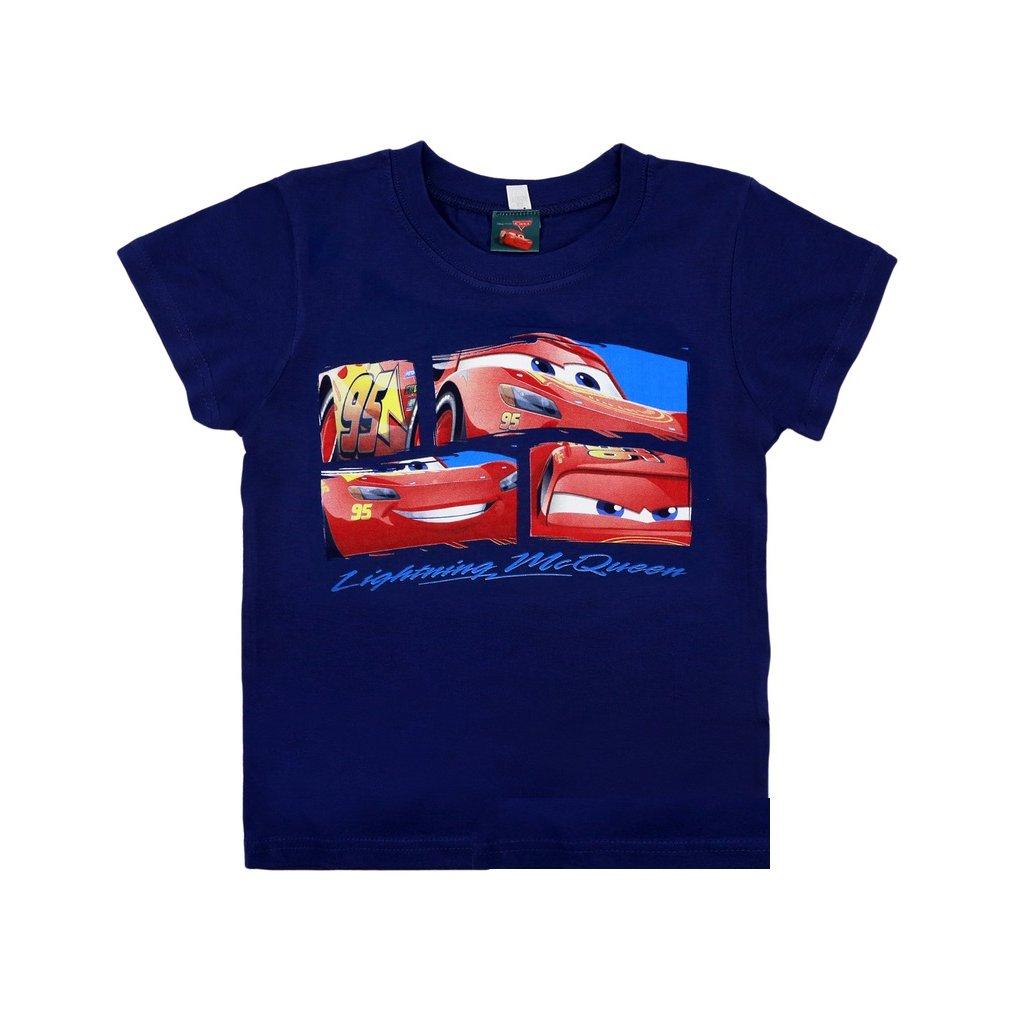 chlapcenske tricko s kratkym rukavom cars modra 1497