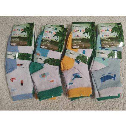 3pack unisex bambusové ponožky - mix barev