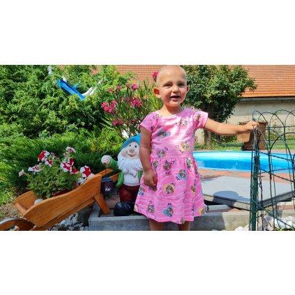 Dívčí šatičky Tlapková Patrola 2566466 - růžové