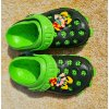 Dětské gumové sandále - černo zelené