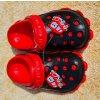 Dětské gumové sandále - černo červené