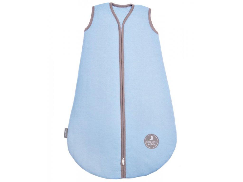 Natulino letní spací pytel pro miminko, NATURAL BLUE / WARM GREY, 1vrstvý, M (6 - 12 měsíců)