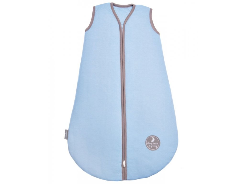 Natulino extra tenký letní dětský spací pytel, BLUE / GREY, 1vrstvý, S (0 - 6 měsíců)