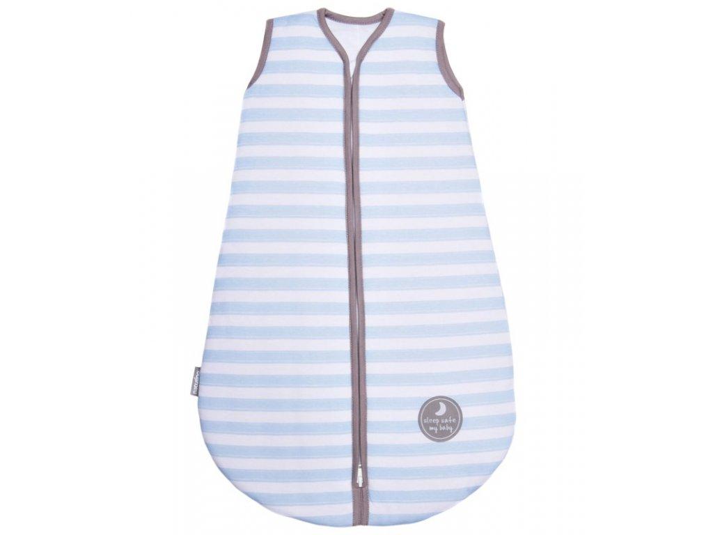 Natulino extra tenký letní dětský spací pytel,  BLUE STRIPES / GREY, 1vrstvý, N (0 - 3 měsíce)