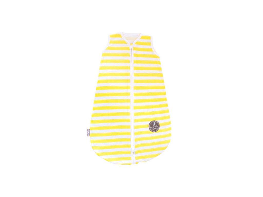 Natulino extra tenký letní dětský spací pytel, YELLOW STRIPES / MINT, 1vrstvý, S (0 - 6 měsíců)