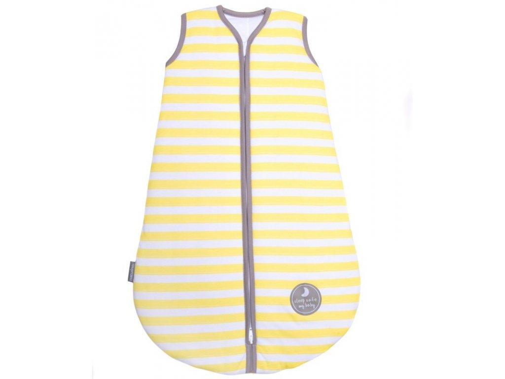 Natulino dětský spací pytel pro miminko, YELLOW STRIPES / WARM GREY, 2vrstvý, N (0 - 3 měsíce)