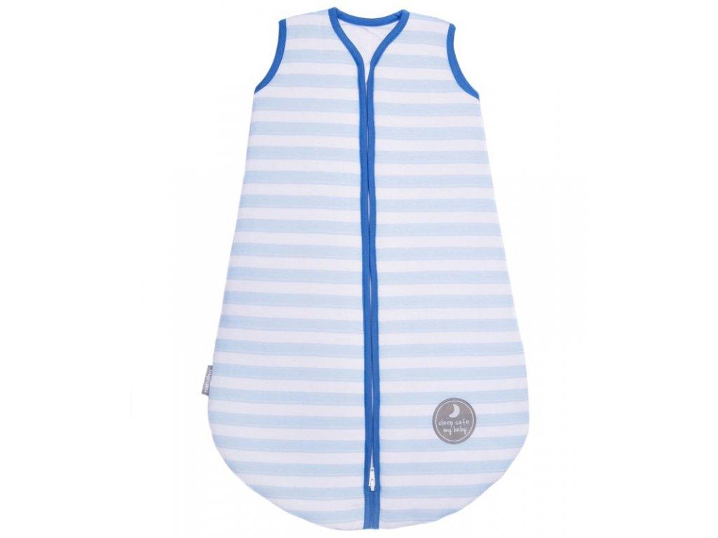 Natulino dětský zimní spací pytel pro miminko, BLUE STRIPES / NAVY, 3vrstvý, M (6 - 12 měsíců)