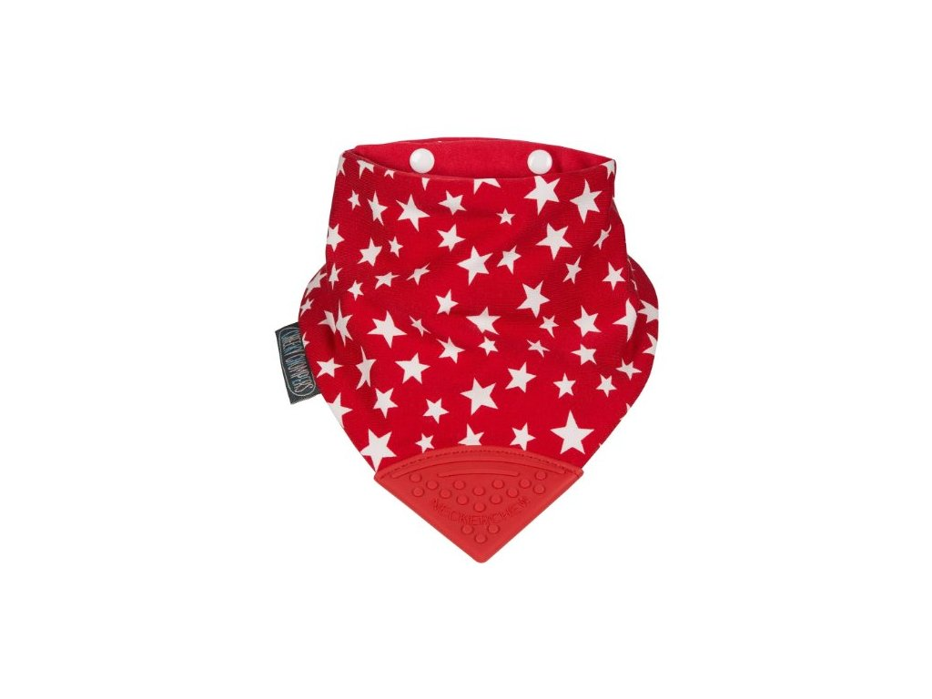 Slintáček s kousátkem RED STARS NECKERCHEW