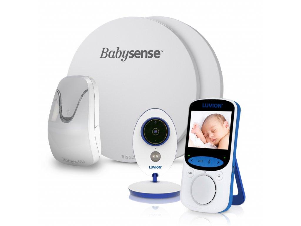 Videochůvička Luvion EASY PLUS s monitorem dechu BABYSENSE 7