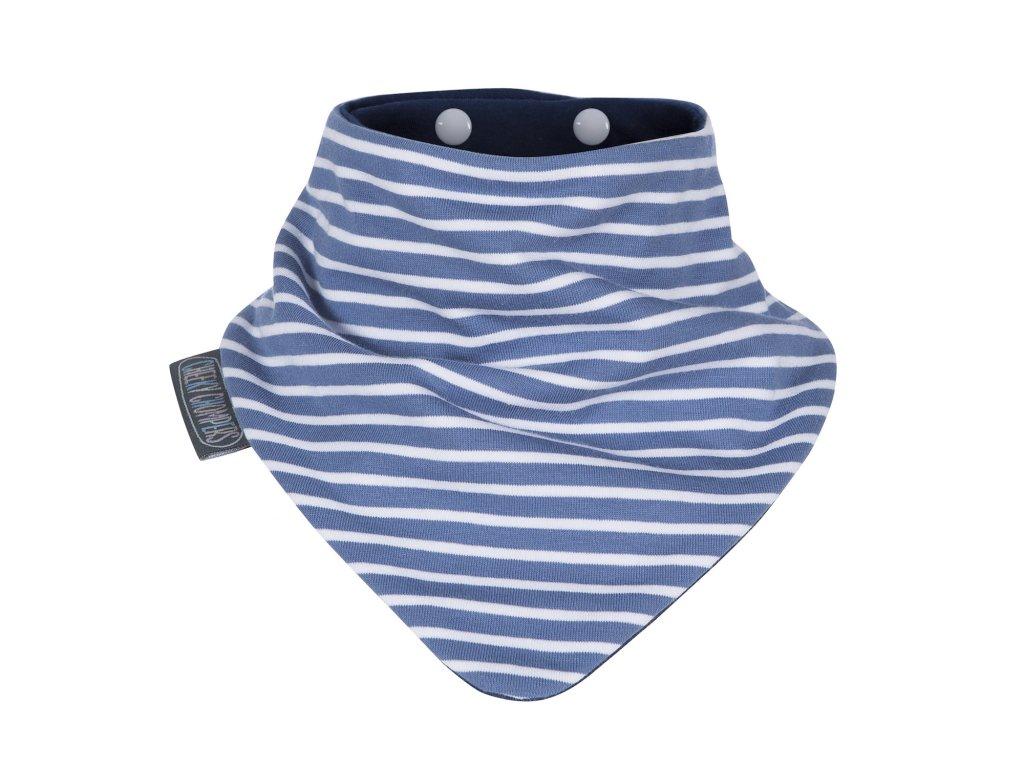 Slintáček Neckerbib Blue stripes