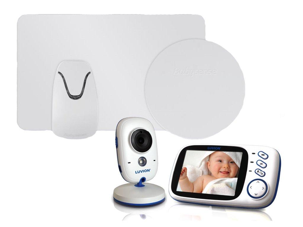 Videochůvička Luvion Platinum 3 s monitorem dechu Babysense 2 Pro