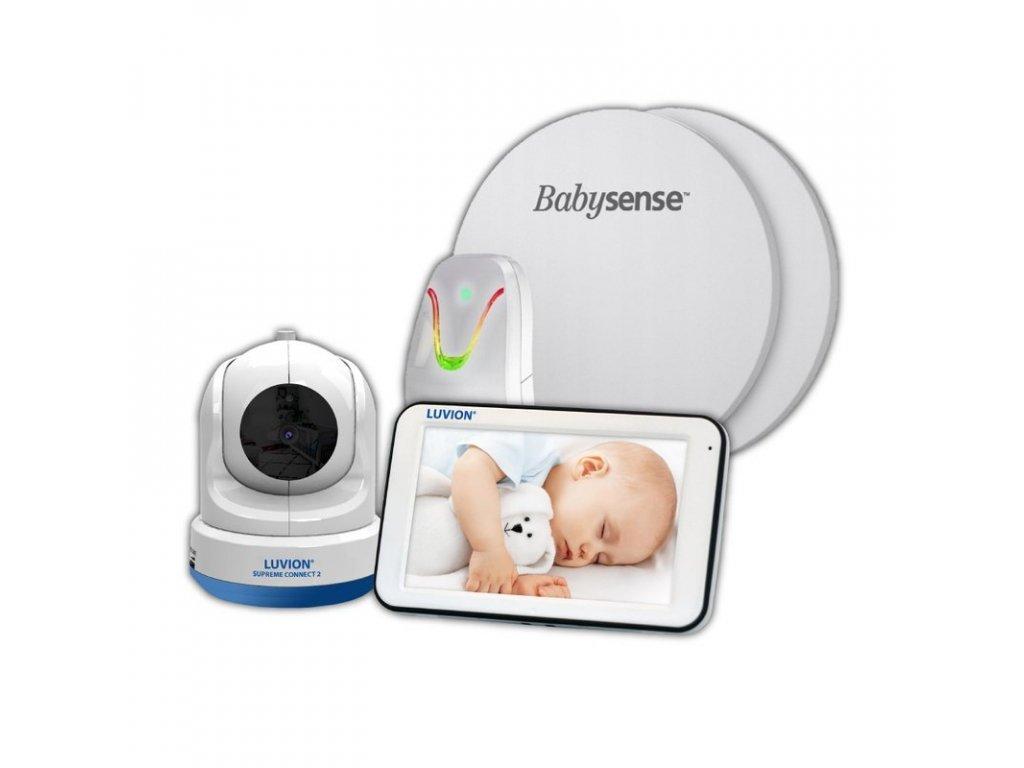 pol pl Elektroniczna niania Luvion Supreme Connect 2 z monitorem oddechu Babysense 7 8843 7