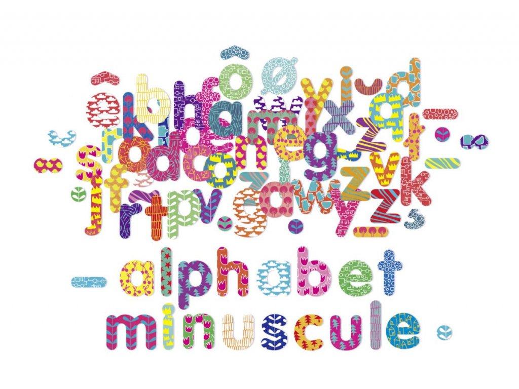 Vilac Dřevěná magnetická abeceda 81ks