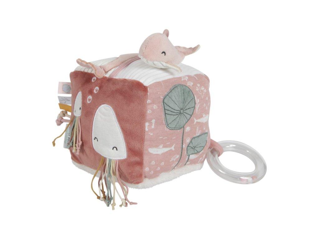 0004606 little dutch soft activity cube ocean pink pink 0