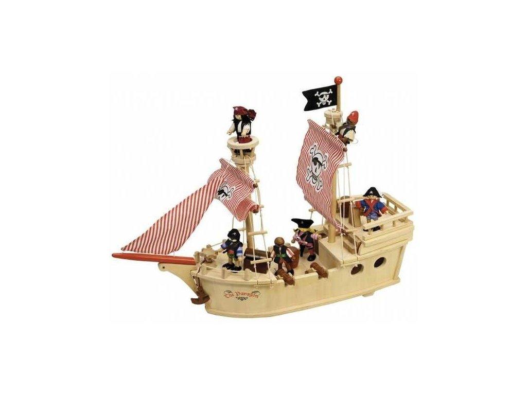 tidlo drevena piratska lod