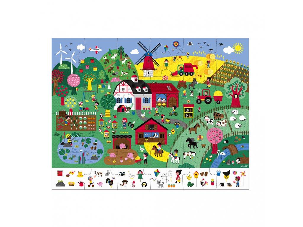 J02660 Janod puzzle farma 24 ks 02