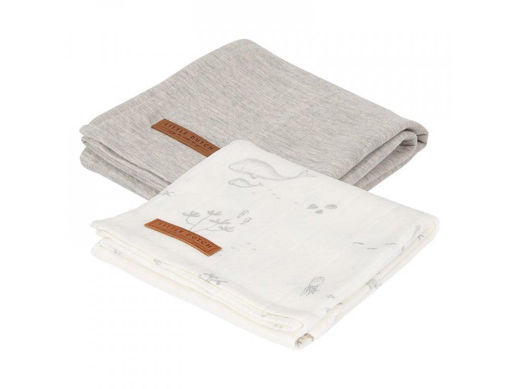 0008040 little dutch swaddles 70 x 70 ocean white pure grey white 3