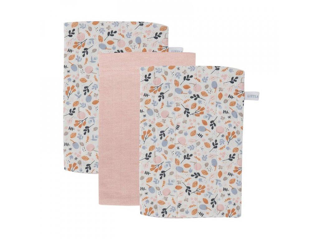 0007809 little dutch washcloths set pure pink spring flowers pink 1