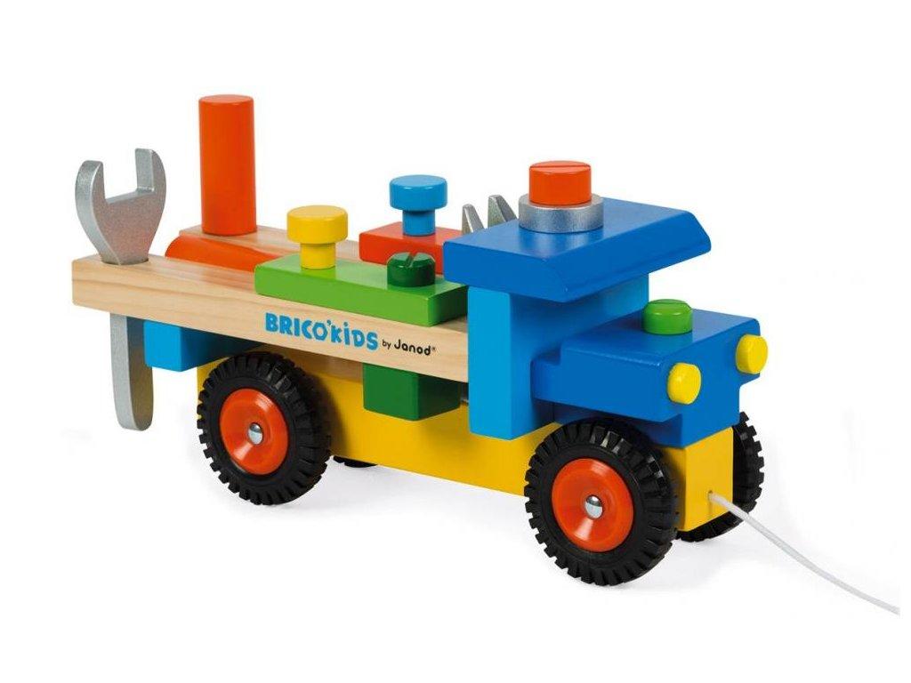J05022 Drevene auto a stavebnica pre chlapcov Kamion.6