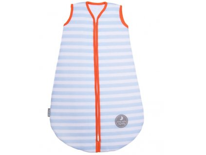 Natulino extra tenký letní dětský spací pytel, BLUE STRIPES / ORANGE, 1vrstvý, N (0 - 3 měsíce)
