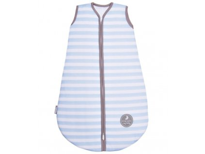 Natulino dětský letní spací pytel pro miminko,  BLUE STRIPES / WARM GREY, 1vrstvý, M (6 - 12 měsíců)
