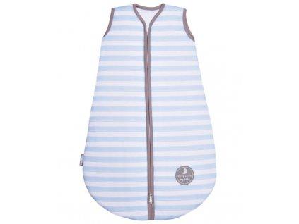 Natulino extra tenký letní dětský spací pytel,  BLUE STRIPES / GREY, 1vrstvý, M (6 - 12 měsíců)