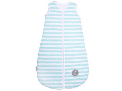 Natulino extra tenký letní dětský spací pytel, MINT STRIPES / WHITE, 1vrstvý, N (0 - 3 měsíce)