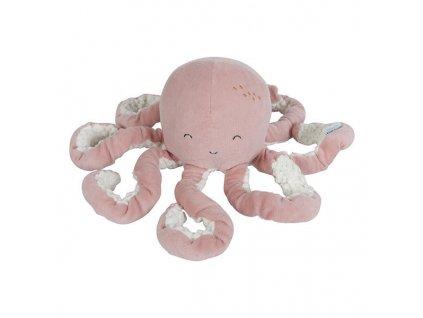 Tiamo Little Dutch malá plyšová chobotnička ocean pink
