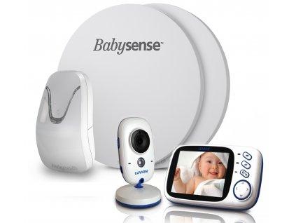Videochůvička Luvion Platinum 3 s monitorem dechu BABYSENSE 7