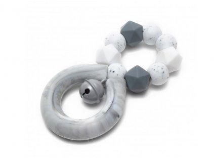 Mimijo silikonové kousátko chrastící 4ever Grey