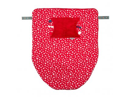 Multifunkční Cheeky deka - RED STARS CHEEKY BLANKET