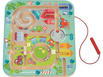 301056 Detska hra magneticky labyrint s perom Mesto Haba na rozvoj motoriky od 2 rokov a