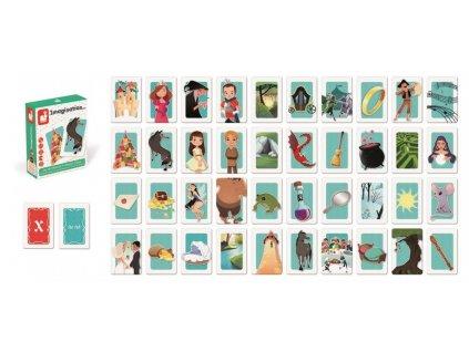 J02753 Kartova hra Vytvor si pribeh Janod 6 12 rokov 2 5 hracov 50 kariet hra na pamat a