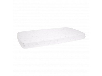 0003198 little dutch fitted cot sheet ocean white white 0