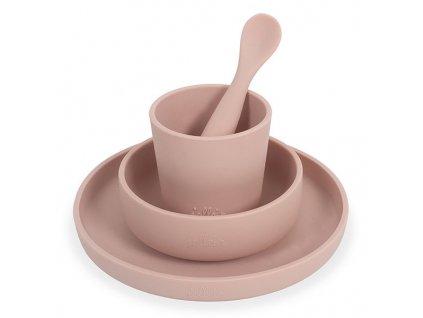 jollein jollein silicone tableware pale pink