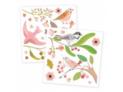 djeco samolepky na okno romanticti ptaci (2)
