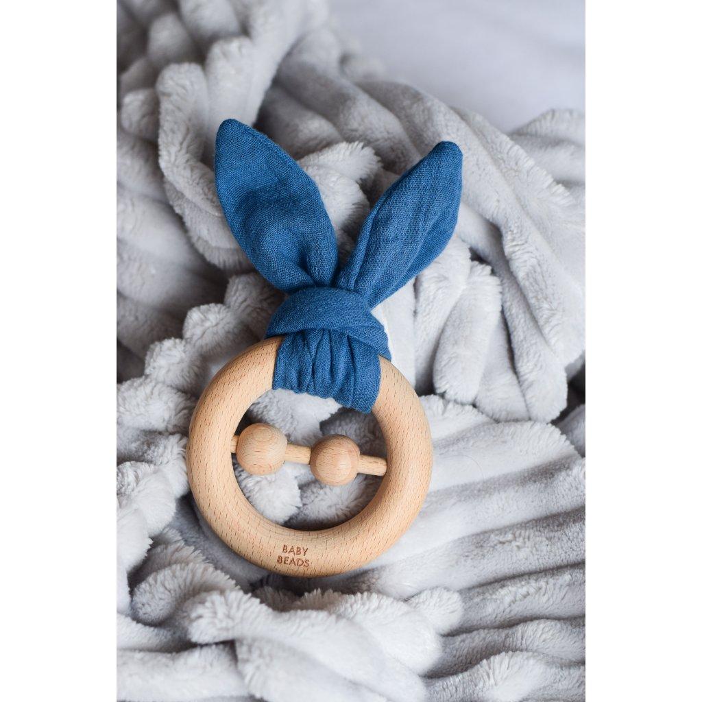 Kousátko s oušky - BLUE