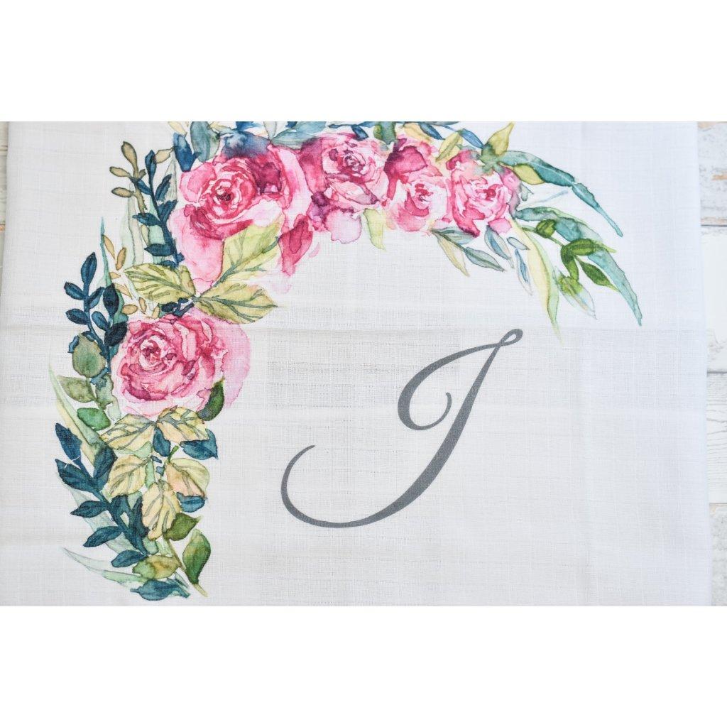 Květiny - monogram J