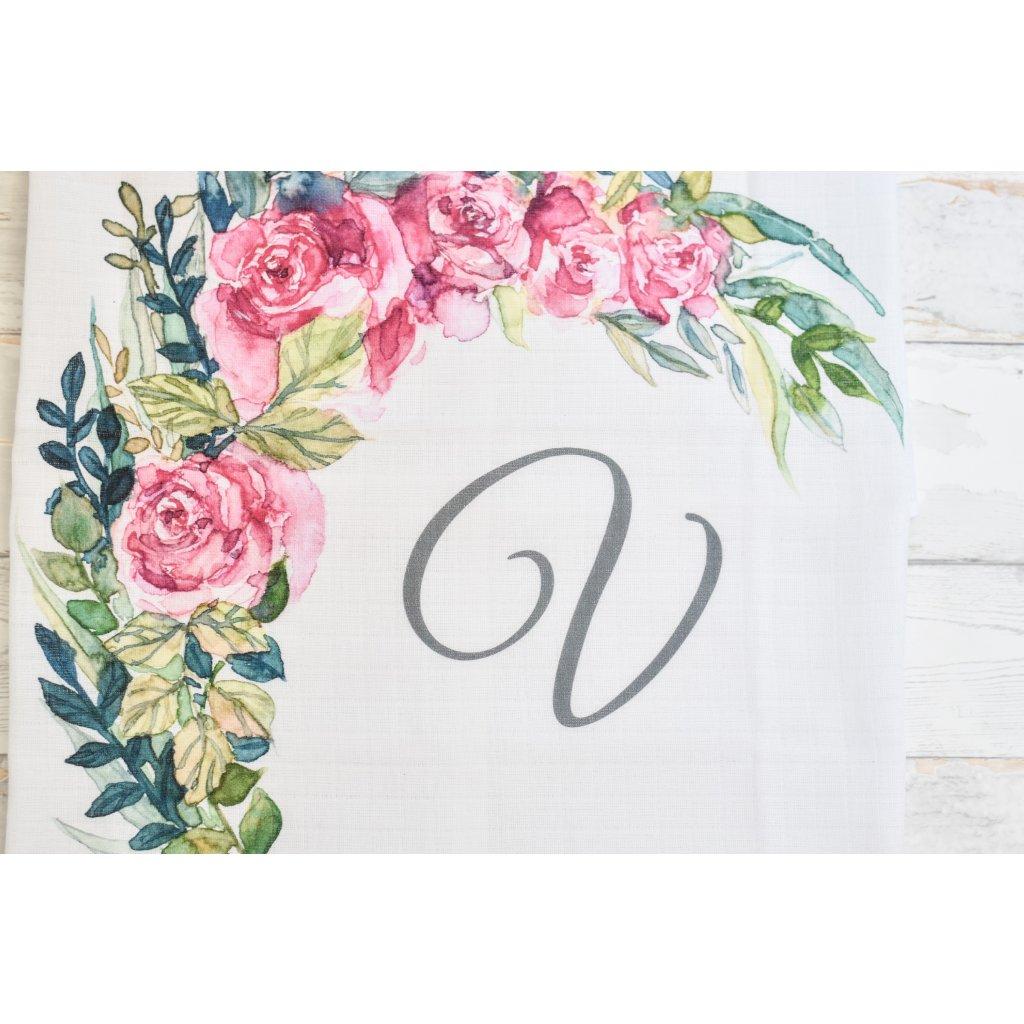 Květiny - monogram V - 2.jakost