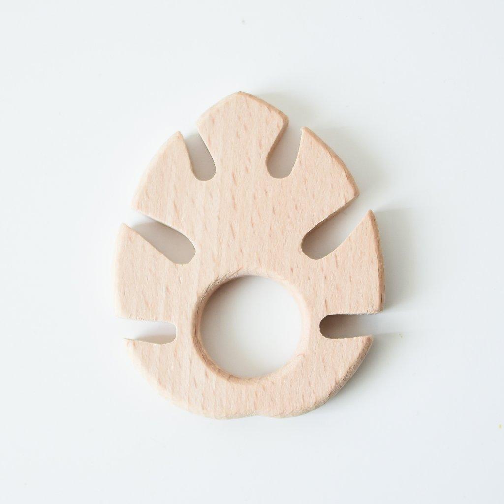 Dřevěné kousátko z bukového dřeva List
