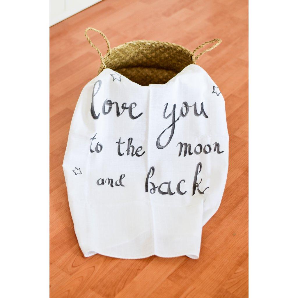 Látková osuška Love you to the moon